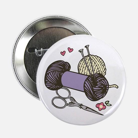 "Knitting Yarn 2.25"" Button (10 pack)"