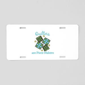 Quilt Pieces Aluminum License Plate