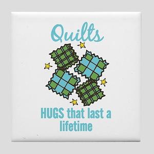 Quilts Last A Lifetime Tile Coaster