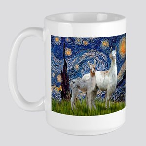 Starry Night Llama Duo Large Mug