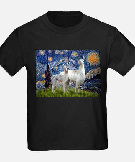 Starry Night Llama Duo T