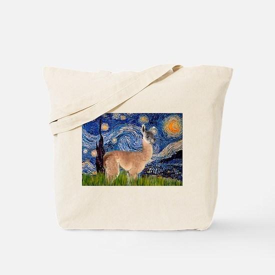 Starry Night Llama Tote Bag