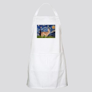 Starry Night Llama BBQ Apron