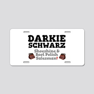 DARKIE SCHWARZ - SHOESHINE Aluminum License Plate