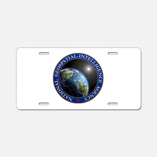 NATIONAL GEOSPATIAL-INTELLI Aluminum License Plate