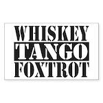 Whiskey Tango Foxtrot Sticker