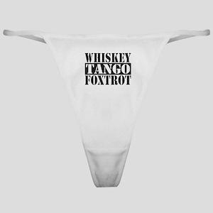 Whiskey Tango Foxtrot Classic Thong