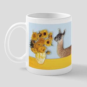 Sunflowers & Llama Mug