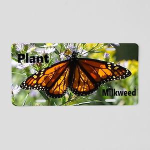 Save Monarchs Aluminum License Plate