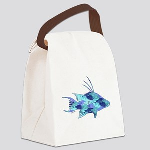 Blue Camouflage Hogfish Canvas Lunch Bag