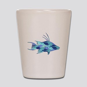 Blue Camouflage Hogfish Shot Glass