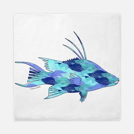 Blue Camouflage Hogfish Queen Duvet