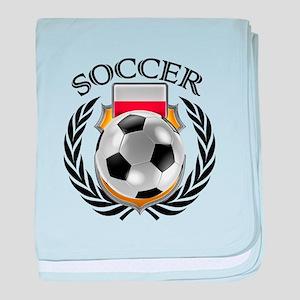 Poland Soccer Fan baby blanket
