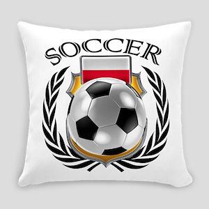 Poland Soccer Fan Everyday Pillow