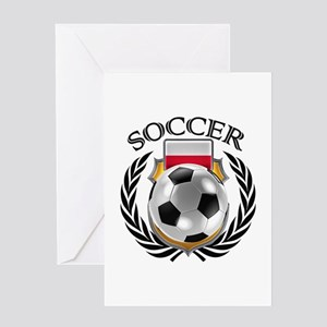 Poland Soccer Fan Greeting Cards