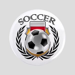 Poland Soccer Fan Button