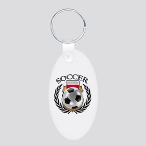 Poland Soccer Fan Keychains
