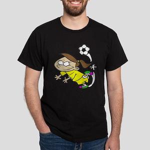 SOCCERGIRLTOONBRUNETTEYELLOW T-Shirt
