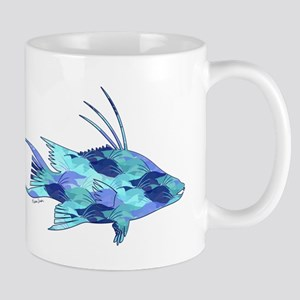 Blue Camouflage Hogfish Mugs