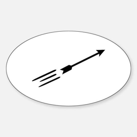 Archery arrow Sticker (Oval)