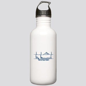 Big Mountain - White Stainless Water Bottle 1.0L