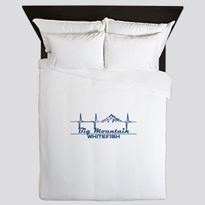Big Mountain - Whitefish - Montana Queen Duvet