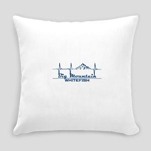 Big Mountain - Whitefish - Monta Everyday Pillow