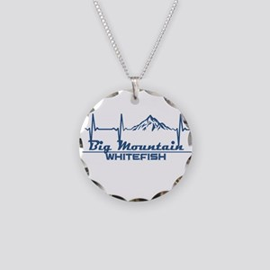 Big Mountain - Whitefish - Necklace Circle Charm