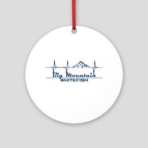 Big Mountain - Whitefish - Montan Round Ornament