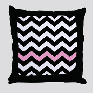With A Light Pink Border Throw Pillow