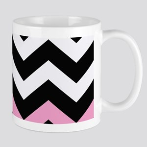 With A Light Pink Border Mugs