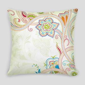 Ornamental Vintage Floral Everyday Pillow
