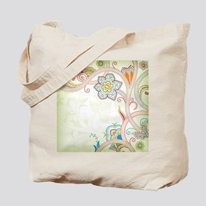 Ornamental Vintage Floral Tote Bag