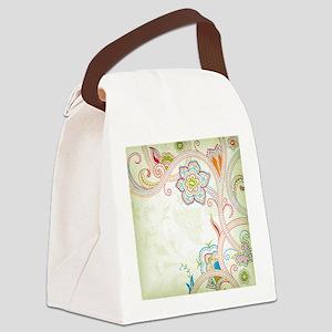 Ornamental Vintage Floral Canvas Lunch Bag