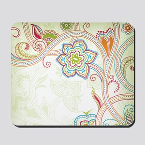 Ornamental Vintage Floral Mousepad