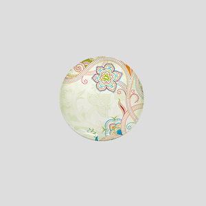 Ornamental Vintage Floral Mini Button