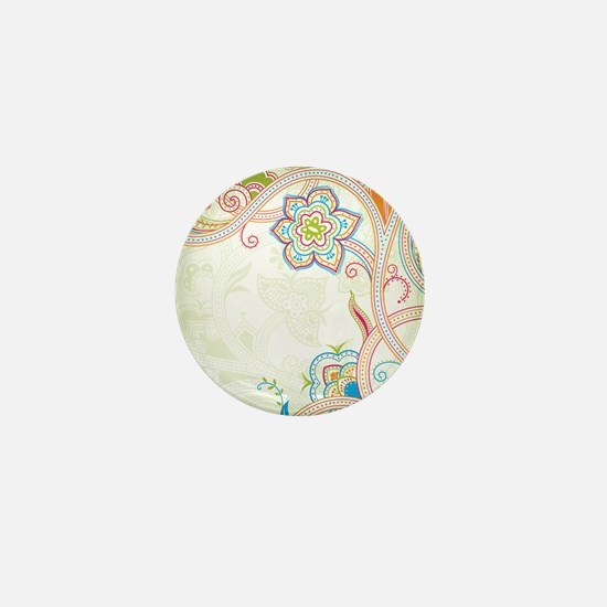 Ornamental Vintage Floral Mini Button