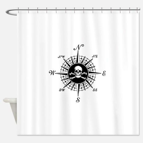 Cute Pirate Shower Curtain