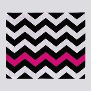 With A Hot Pink Border Throw Blanket