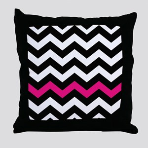 With A Hot Pink Border Throw Pillow