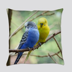 Budgie Love Everyday Pillow