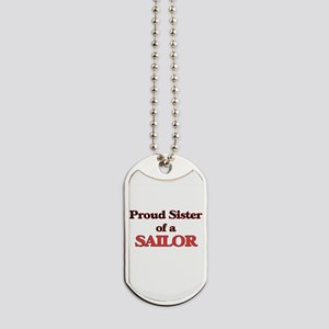 Proud Sister of a Sailor Dog Tags