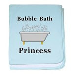 Bubble Bath Princess baby blanket