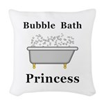 Bubble Bath Princess Woven Throw Pillow