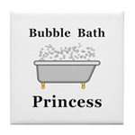 Bubble Bath Princess Tile Coaster