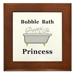 Bubble Bath Princess Framed Tile
