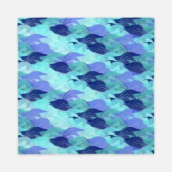 Blue Hogfish Camo Queen Duvet