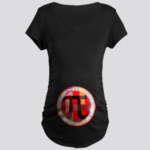 Artistic, Geometric Pi Maternity T-Shirt