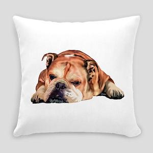 English Bulldog Art Portrait Everyday Pillow