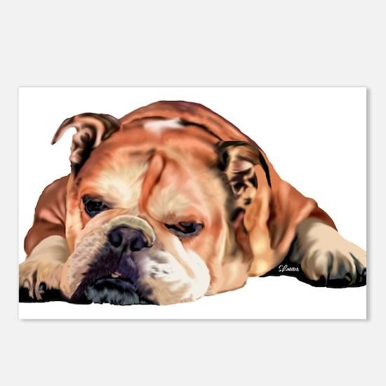 English Bulldog Art Portr Postcards (Package of 8)